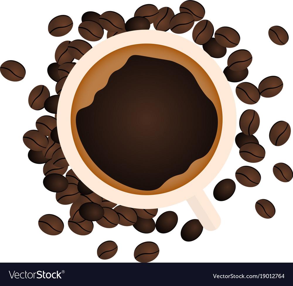 Coffee banner coffee time cup grain
