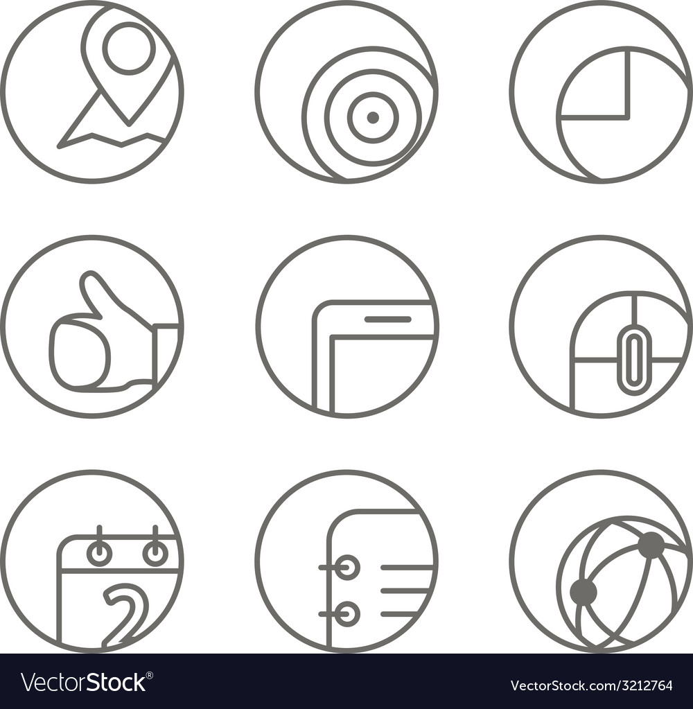 Different web browser icons set