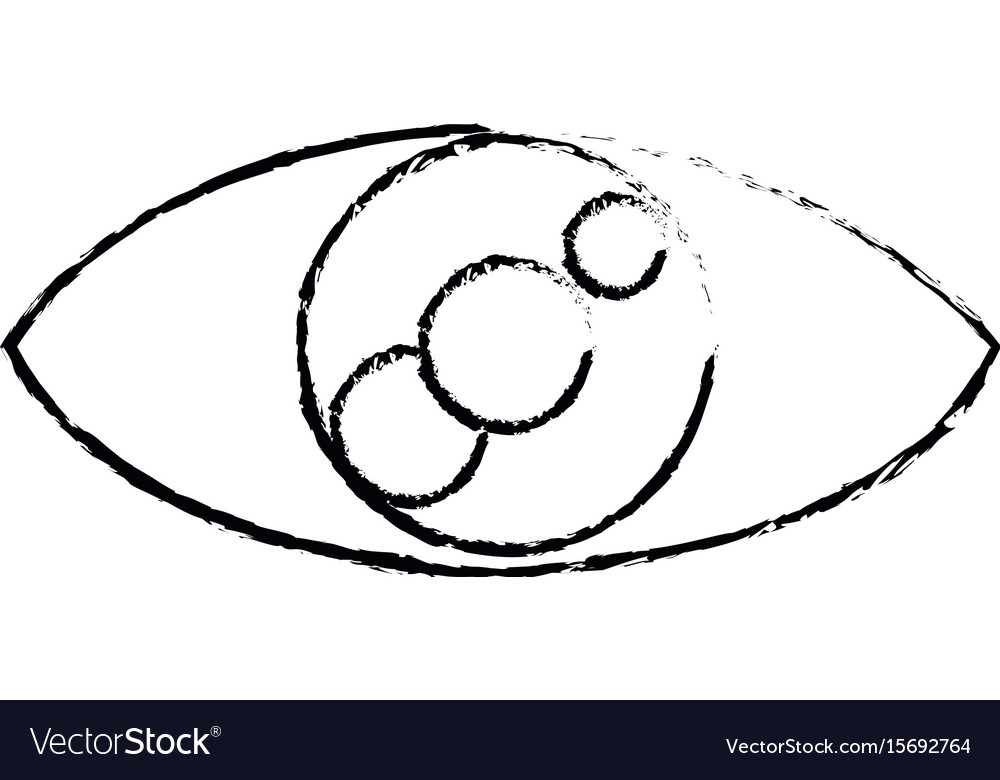 Eye look vision optic cartoon icon vector image
