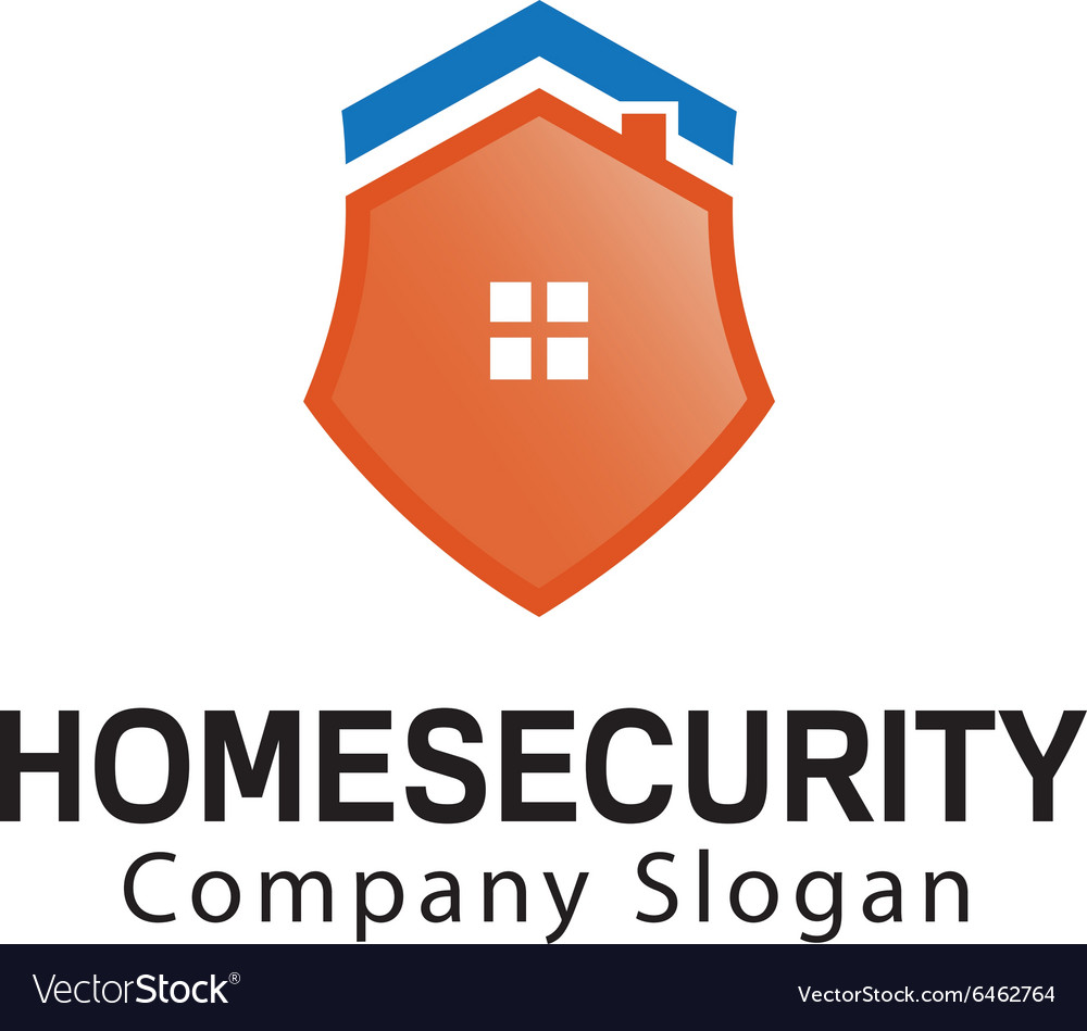 Home Security Design Royalty Free Vector Image