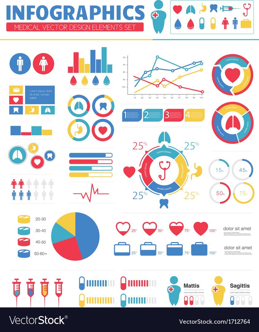 Infographic Medical Design Elements Set