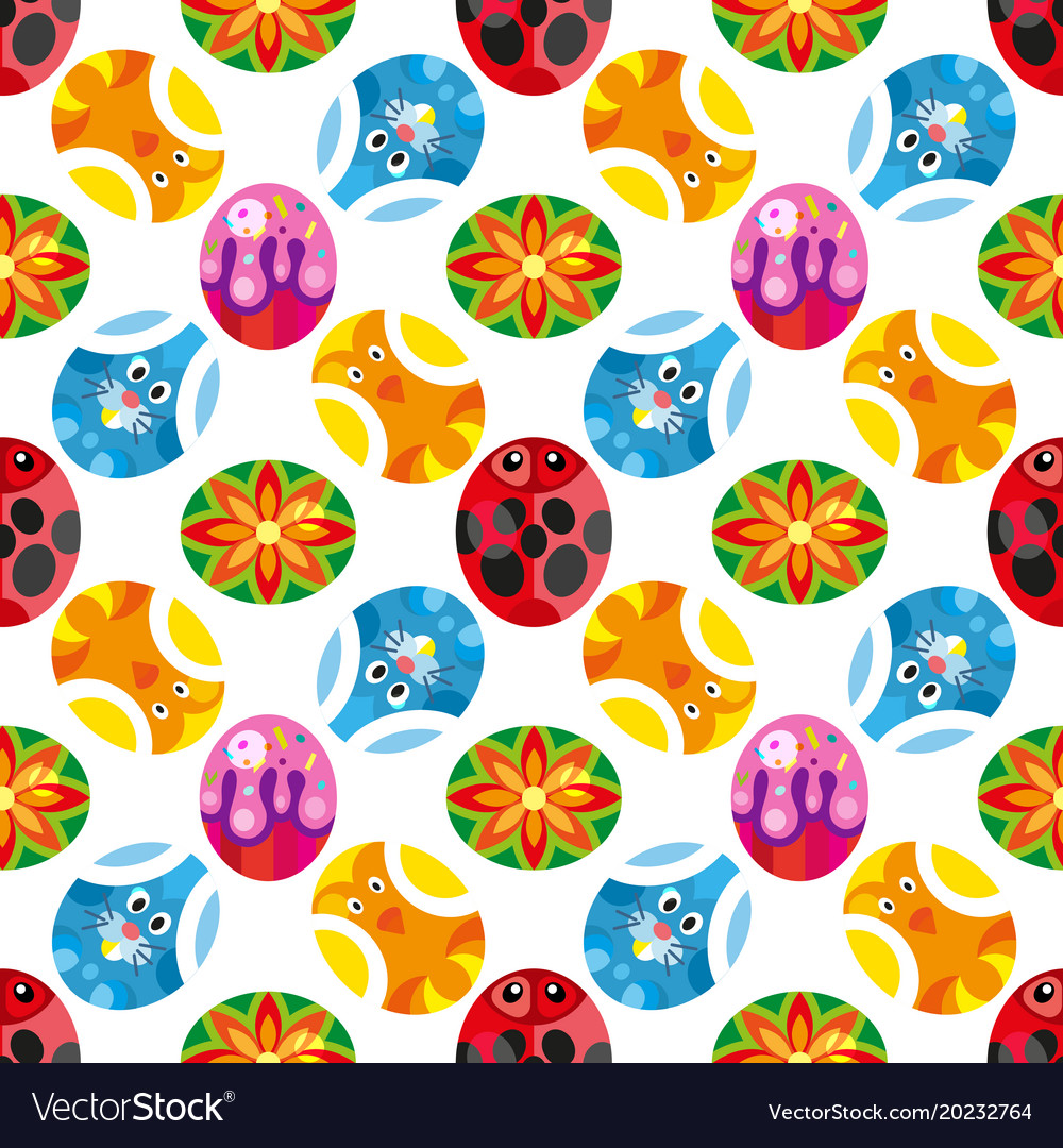 Pattern of colored easter eggs