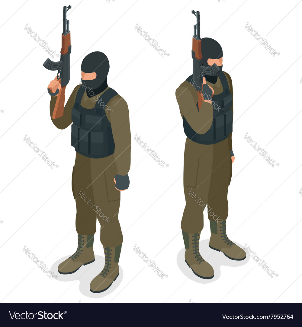 Spec ops police officers SWAT in black uniform