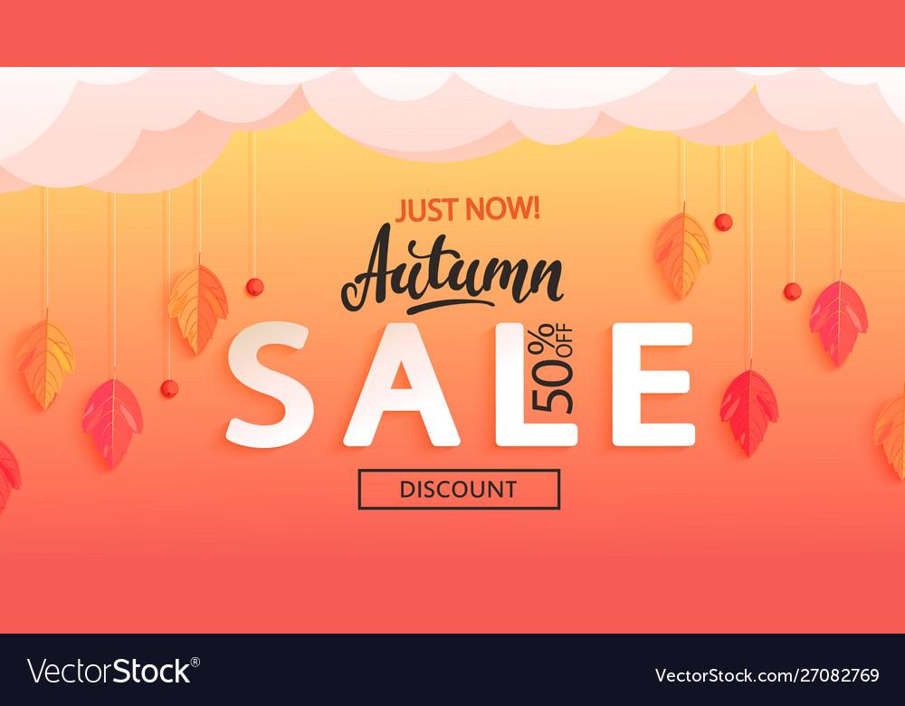 Autumn sale banner just now discounts