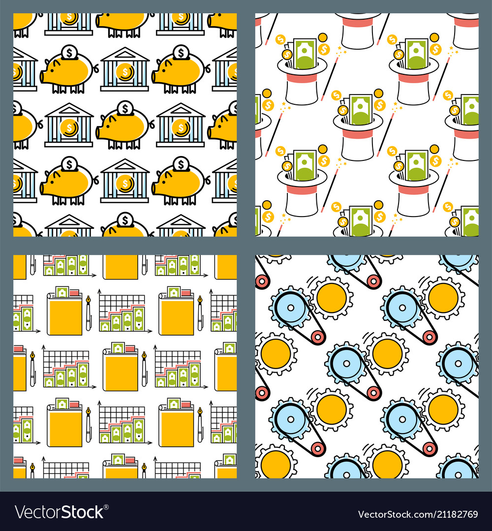 Banking money financial services seamless pattern