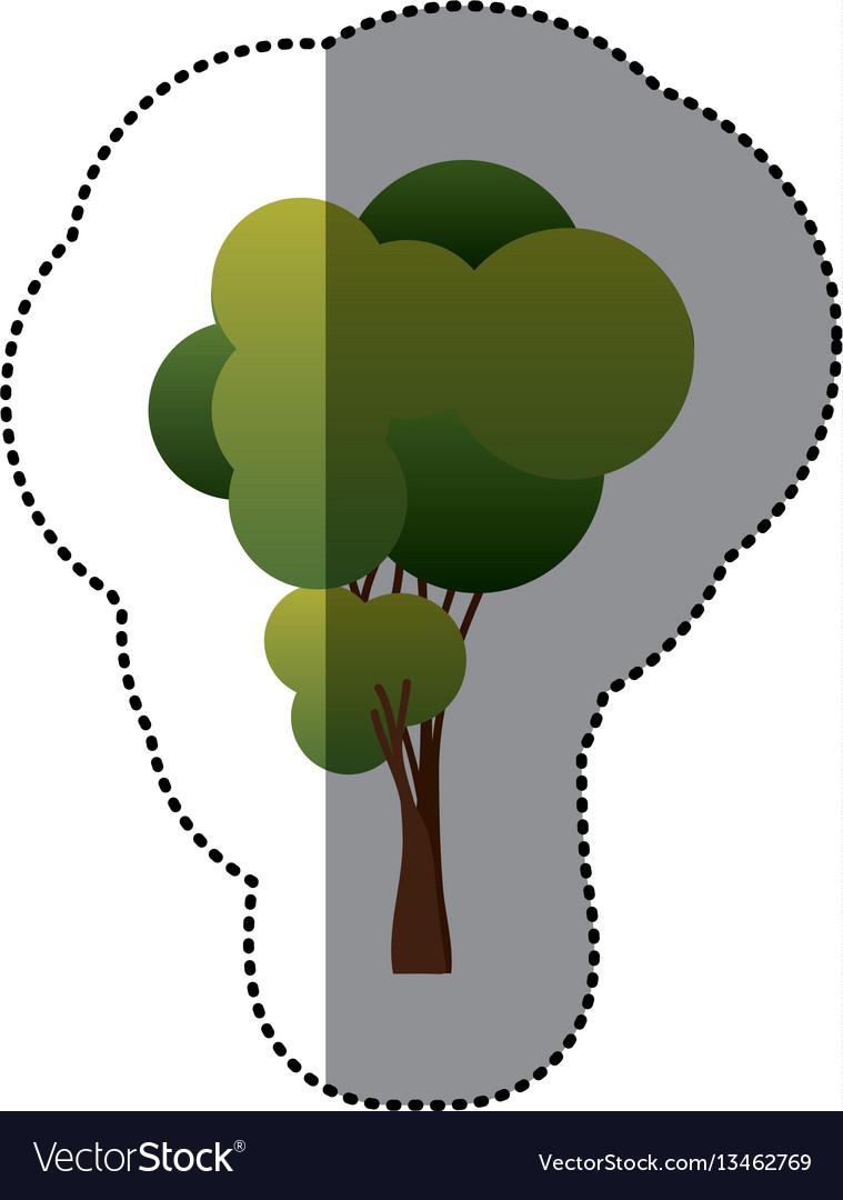 Color tree art icon