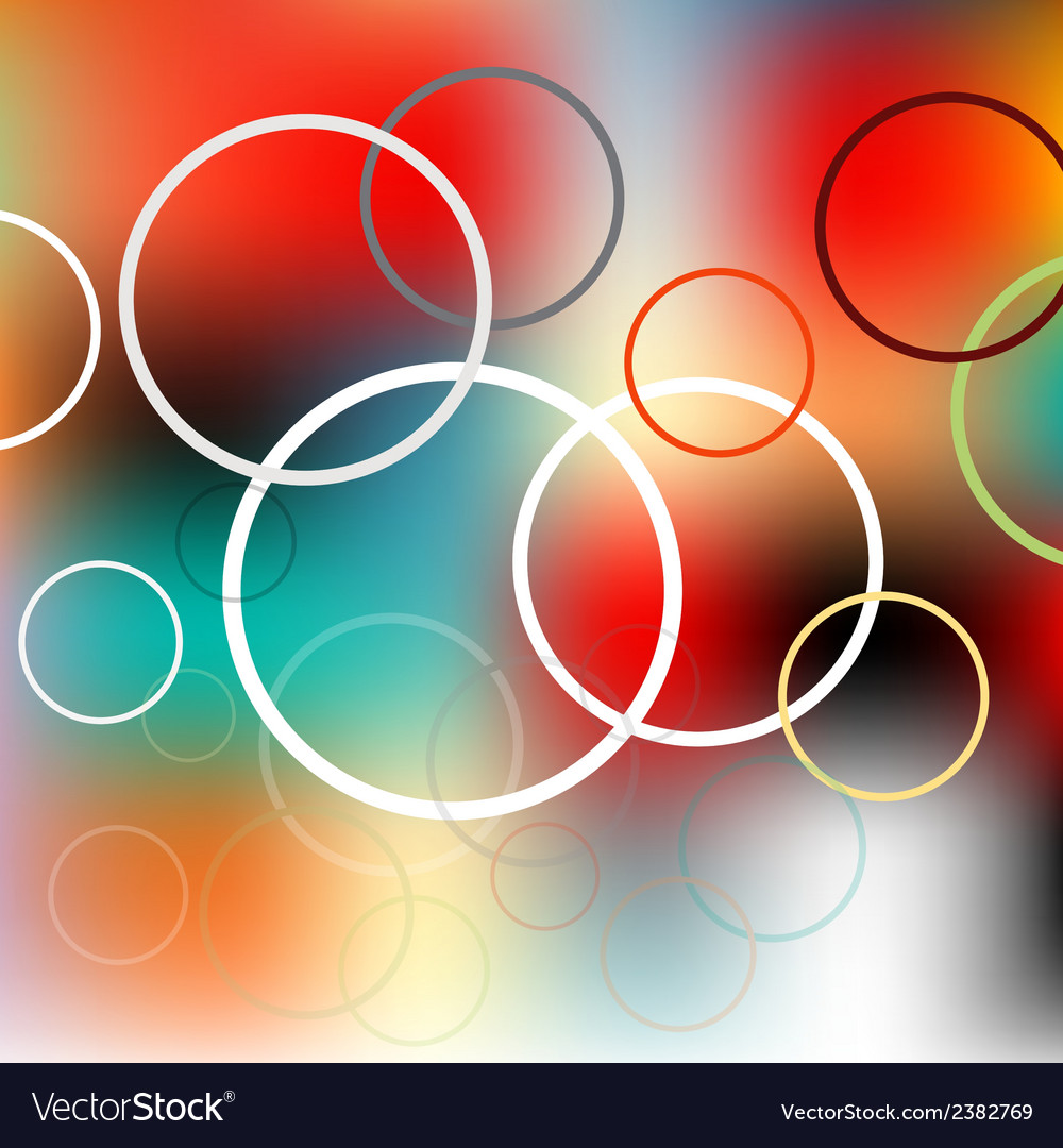 Colored circles on the blurred background
