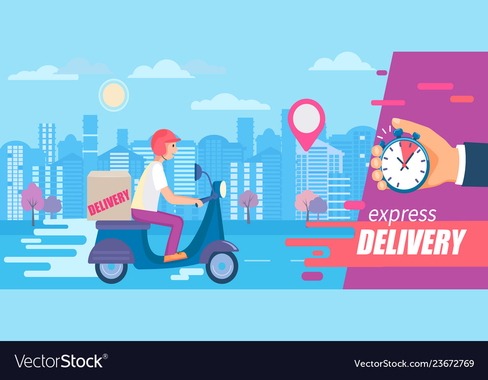 Fast and free delivery in short time on scooters