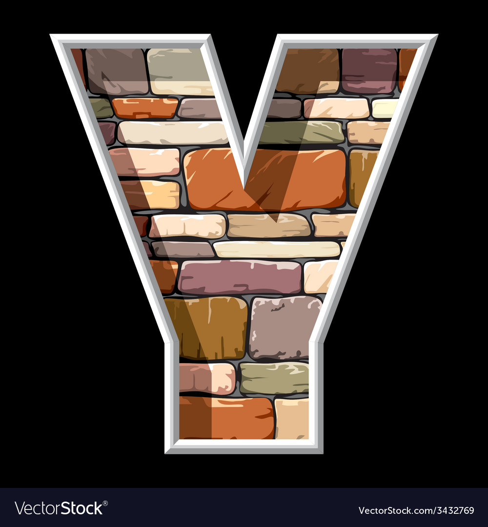 Stone letter Y