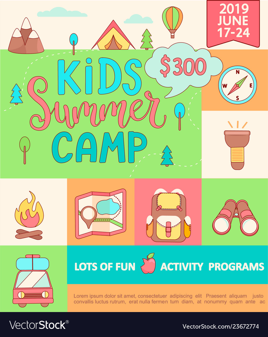 Banner for the kids summer camp
