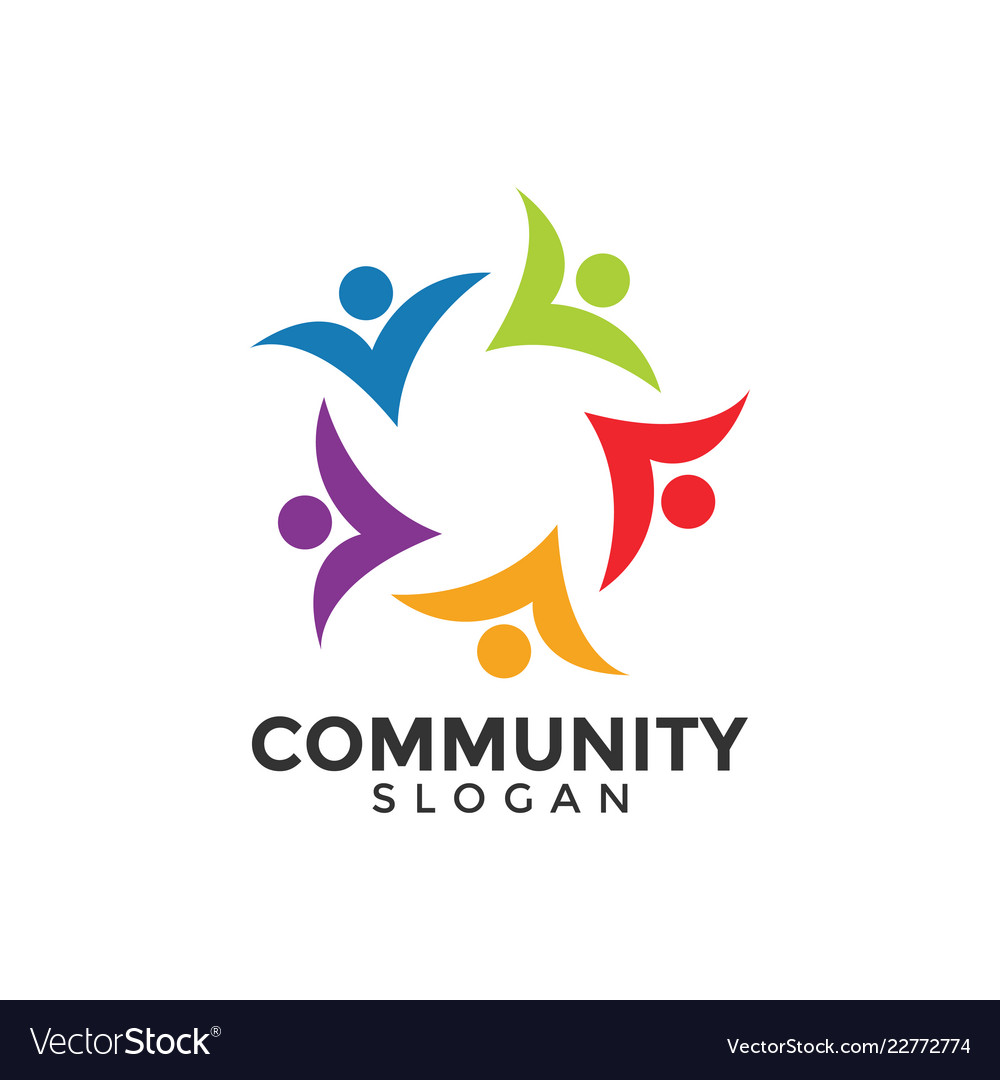 Community people graphic design template