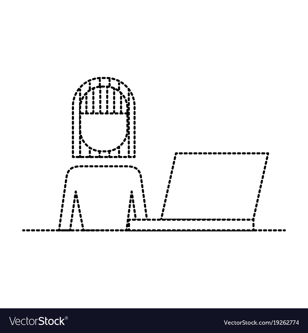 Female portrait with laptop working