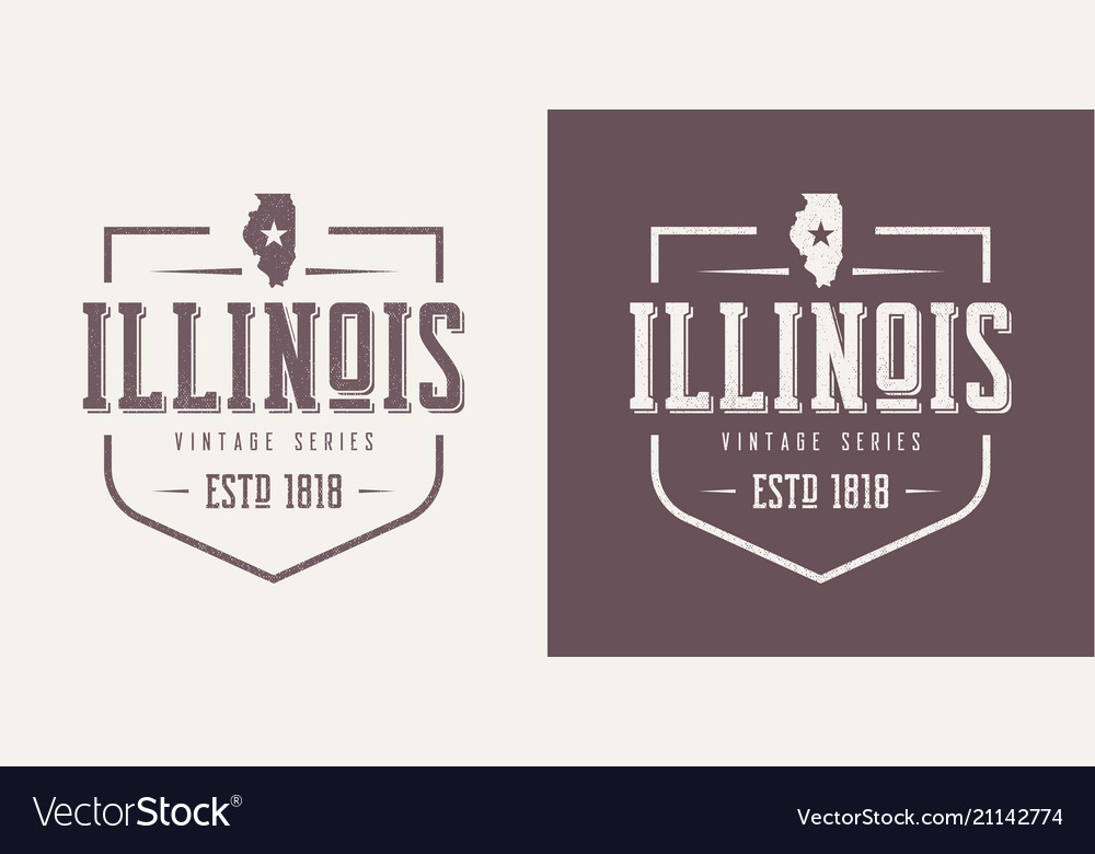 Illinois state textured vintage t-shirt and