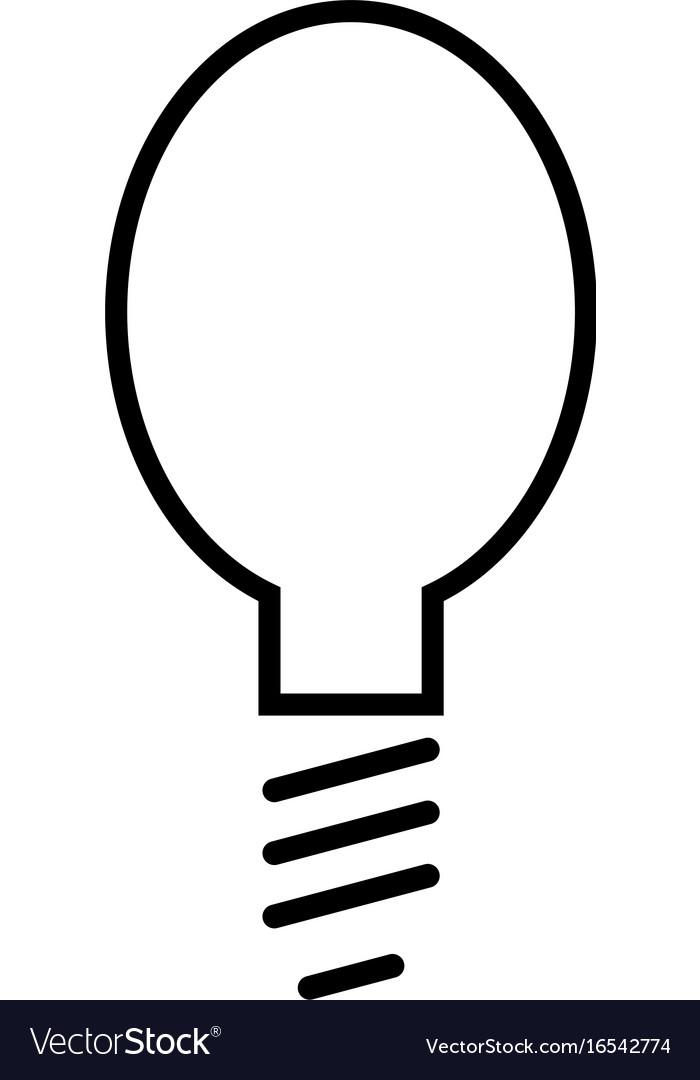 Light bulb simple linear icon