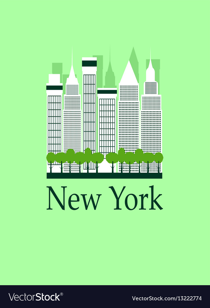 New york travel background
