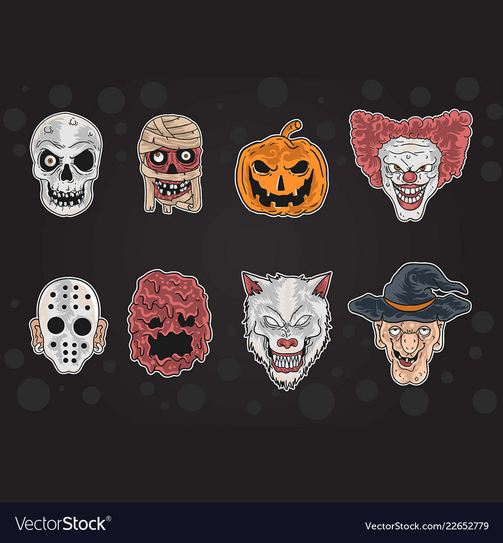 All halloween mask in one