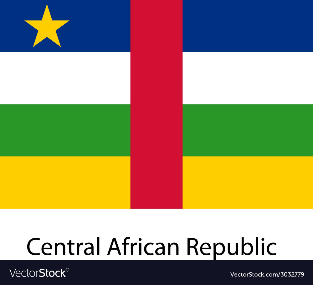 Flag of the country central african republic