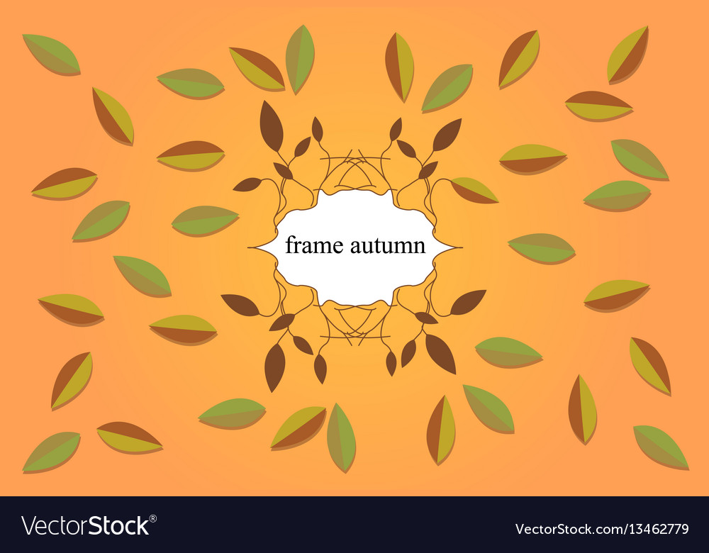 Frame with branches berries and flowers of wild vector image