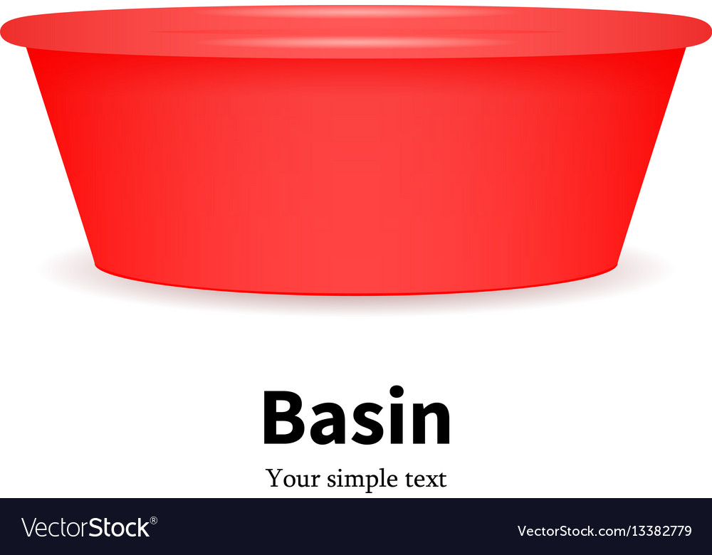 Plastic basin for washing dishes clothes vector image