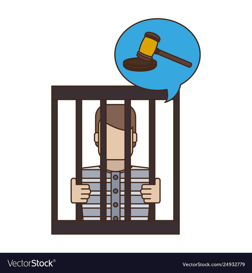 Prisoner in jail