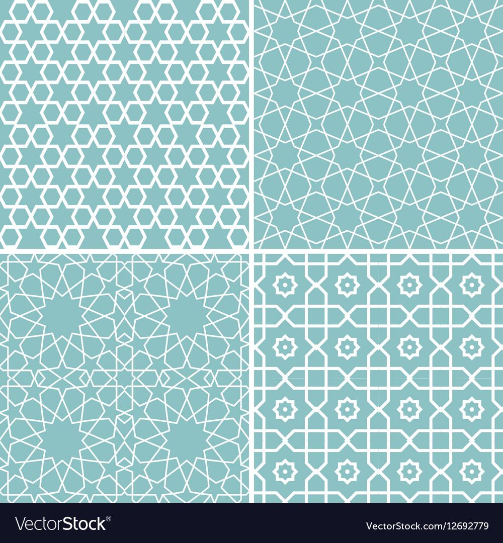 Set of geometric patterns in arabic style