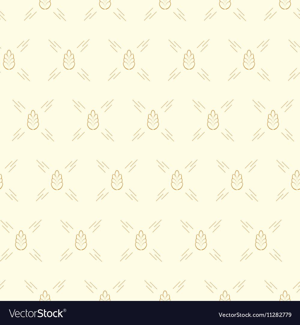 Spica wheat seamless pattern