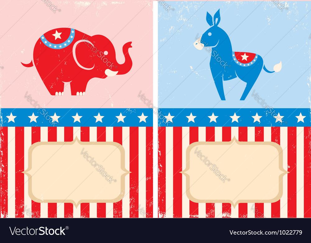 Symbols Of American Parties Royalty Free Vector Image