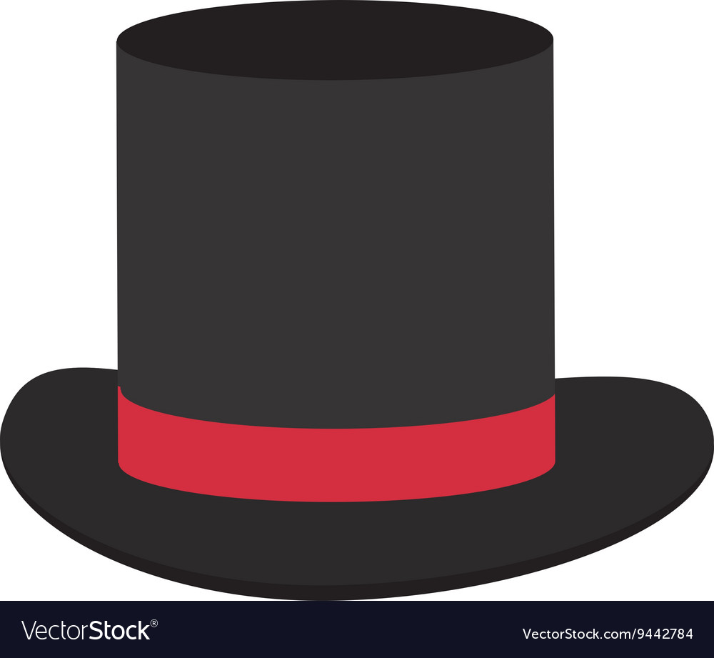 Black and red tophat