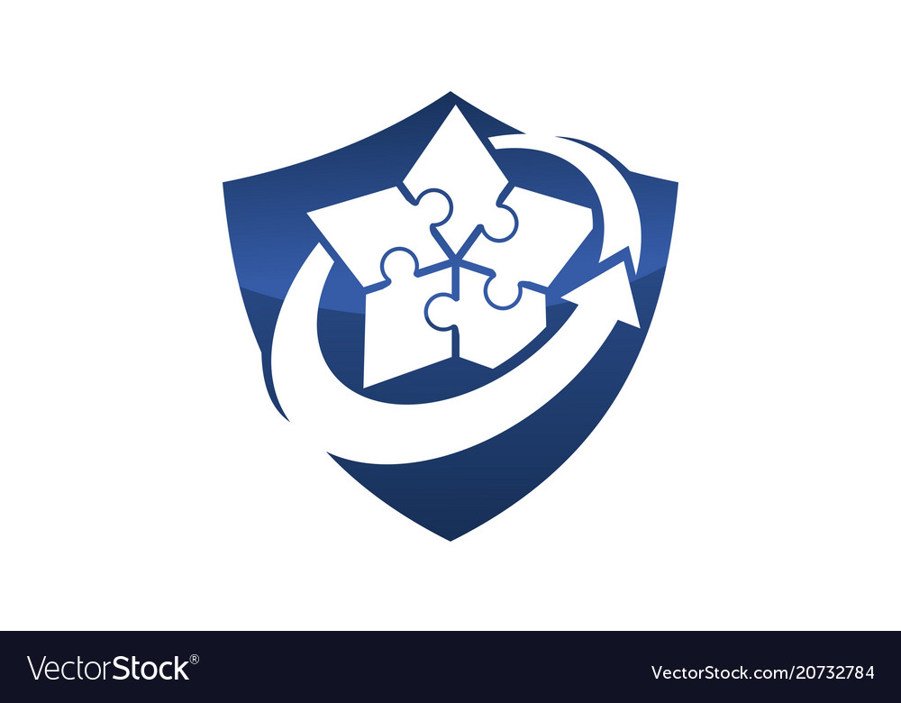 Business strategy shield vector image