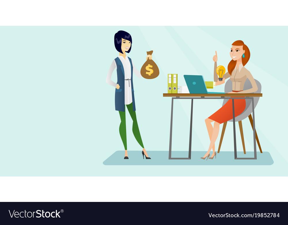 Caucasian business woman having creative idea
