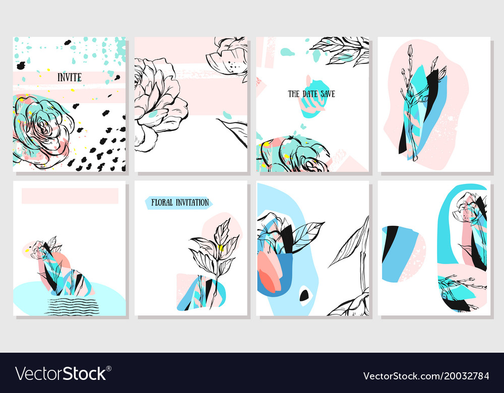 Hand drawn abstract creative spring unusual