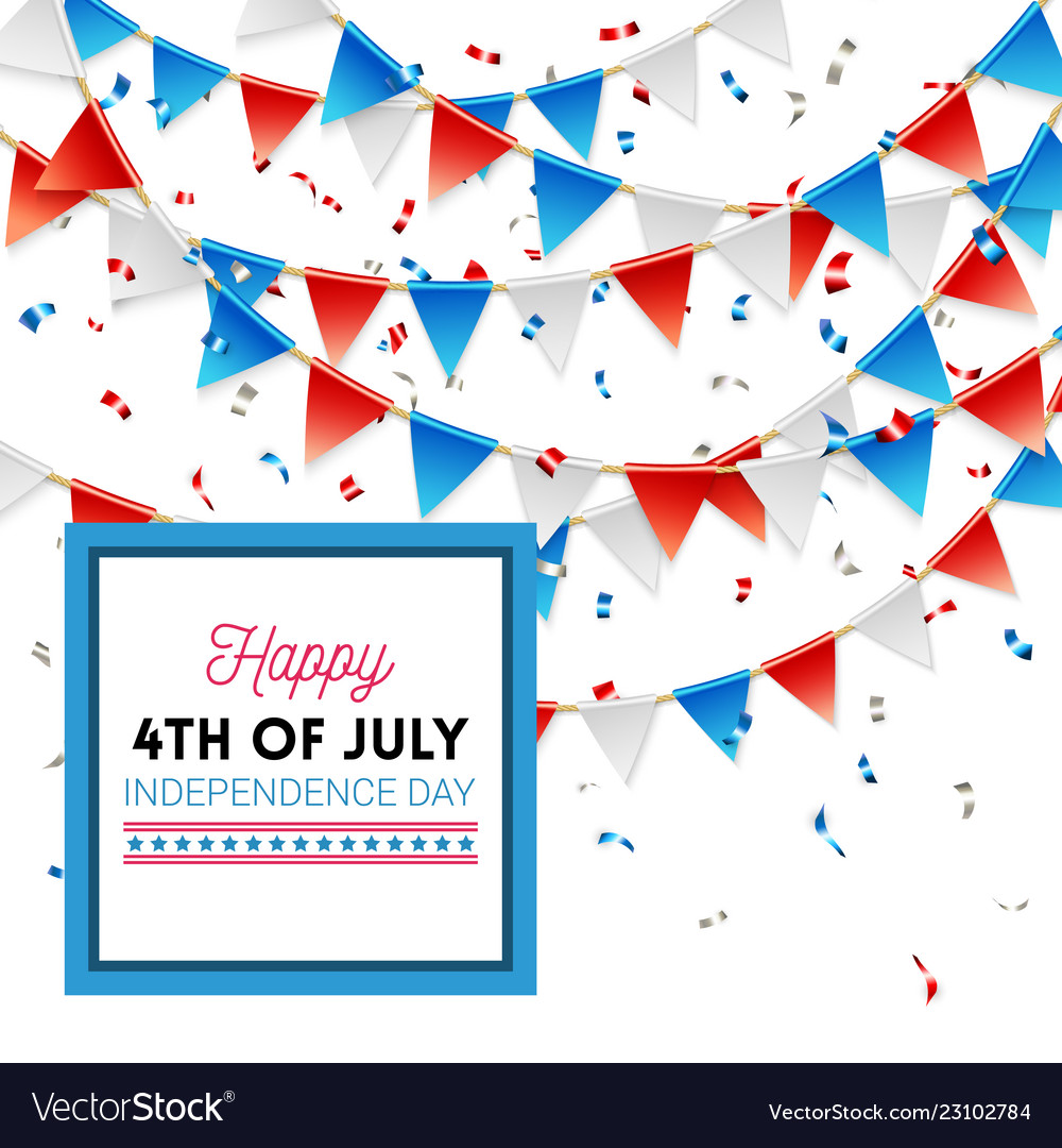 Happy 4th july independence day card design