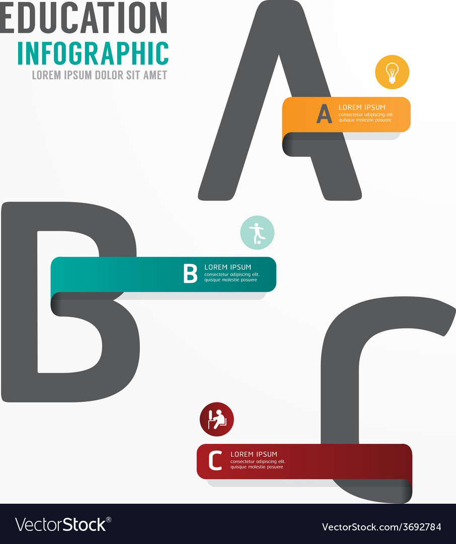 Infographic Education Font Template Design