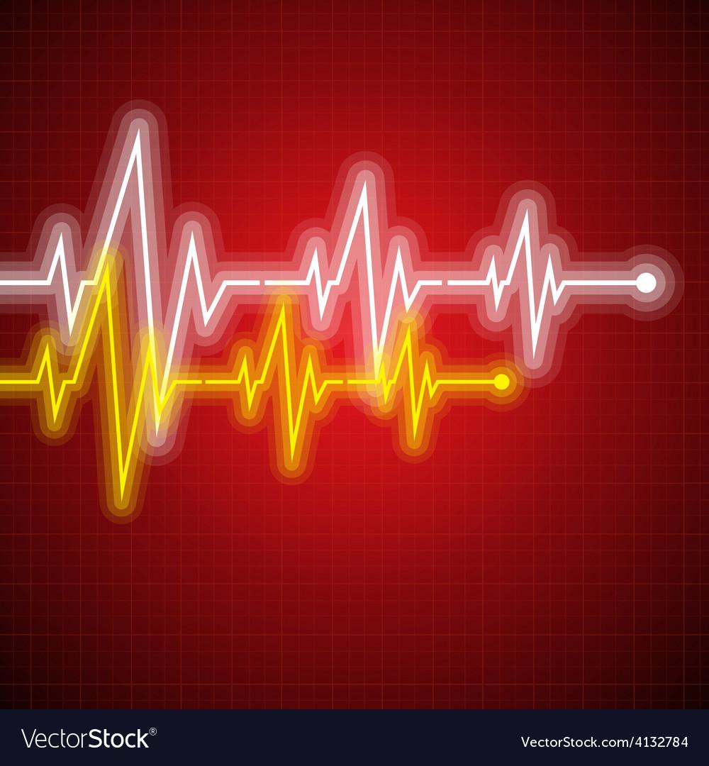 Medical design - cardiogram vector image