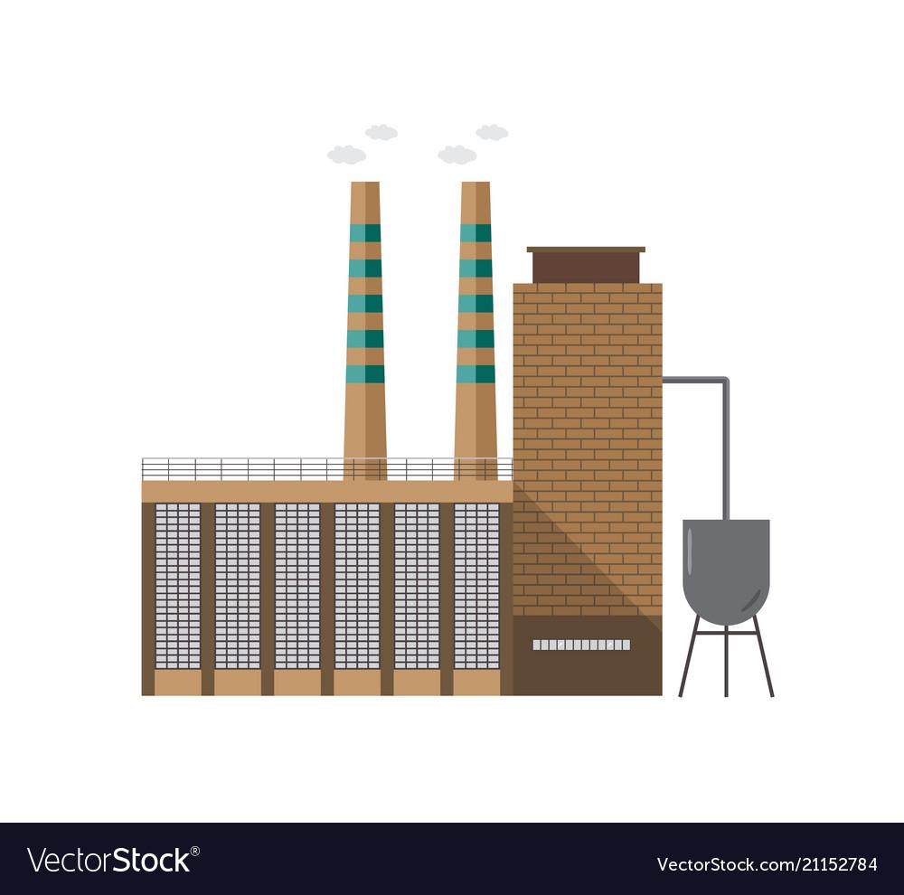 Modern industrial factory building or boiler house