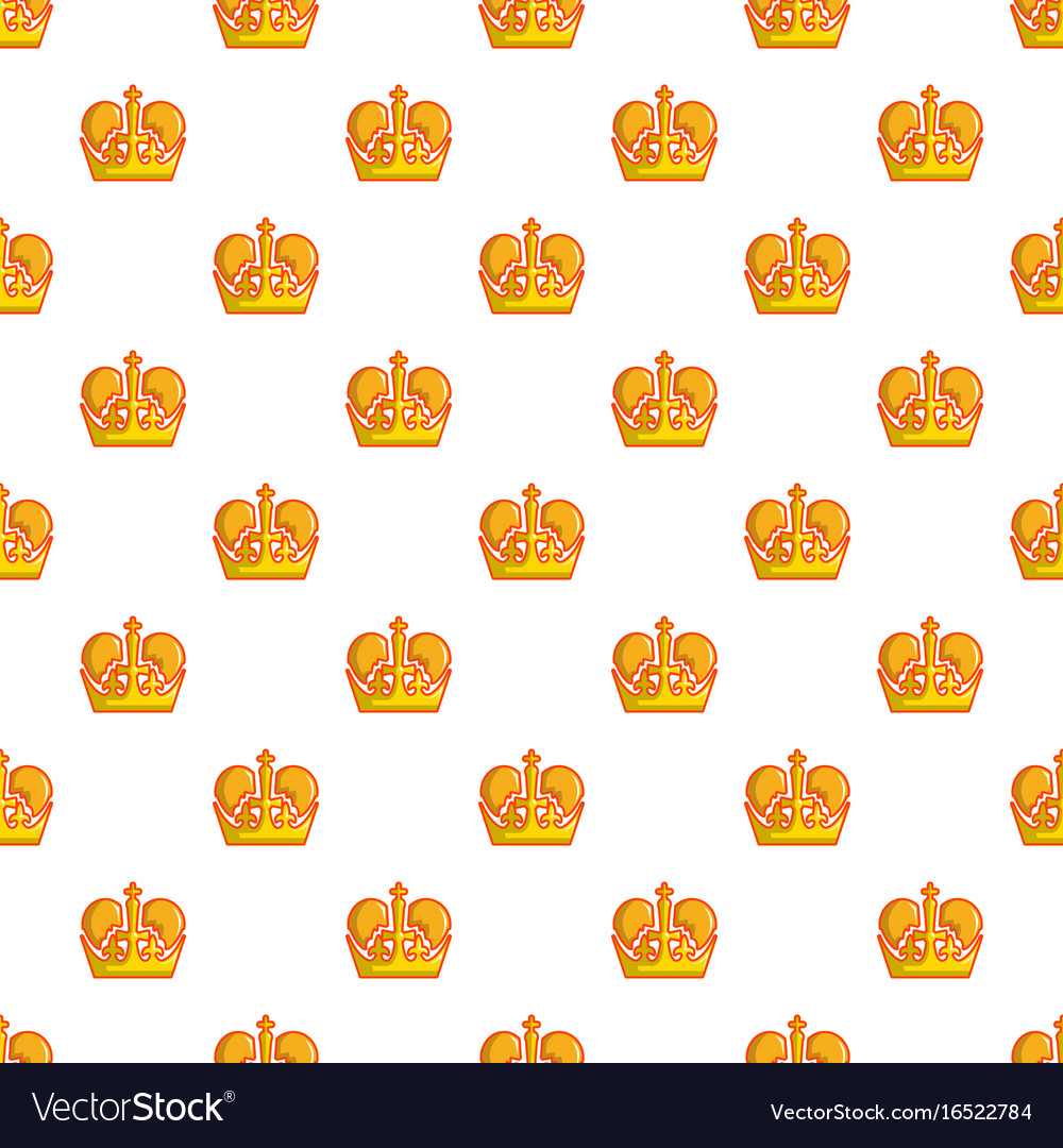 Monarch crown pattern seamless vector image