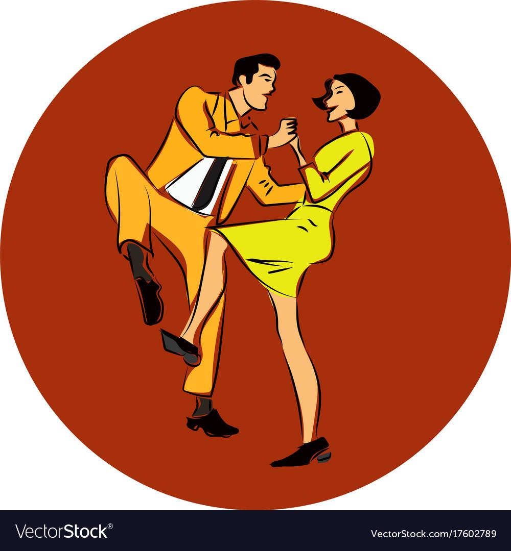 A couple dancing swing