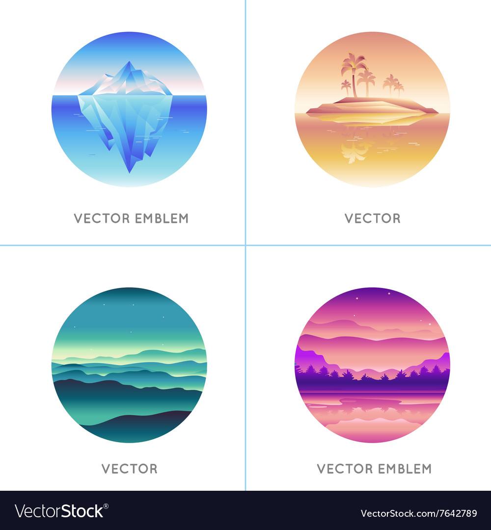 Abstract logo design templates