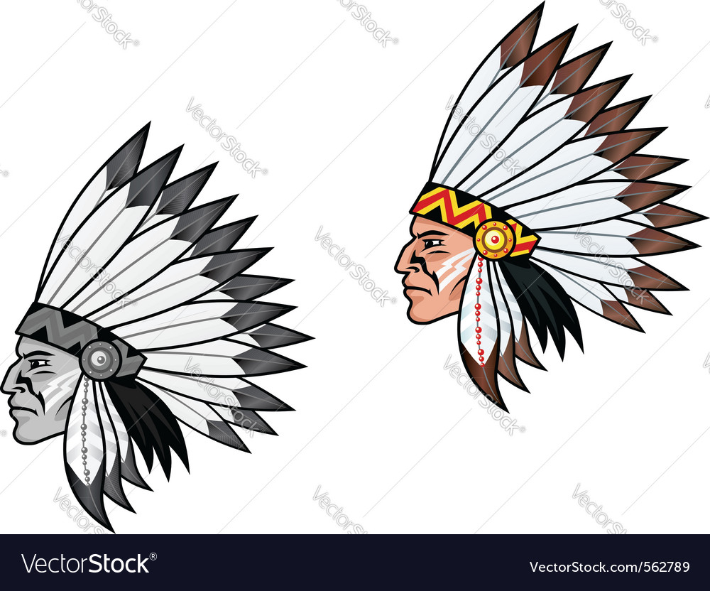 American indian head vector image