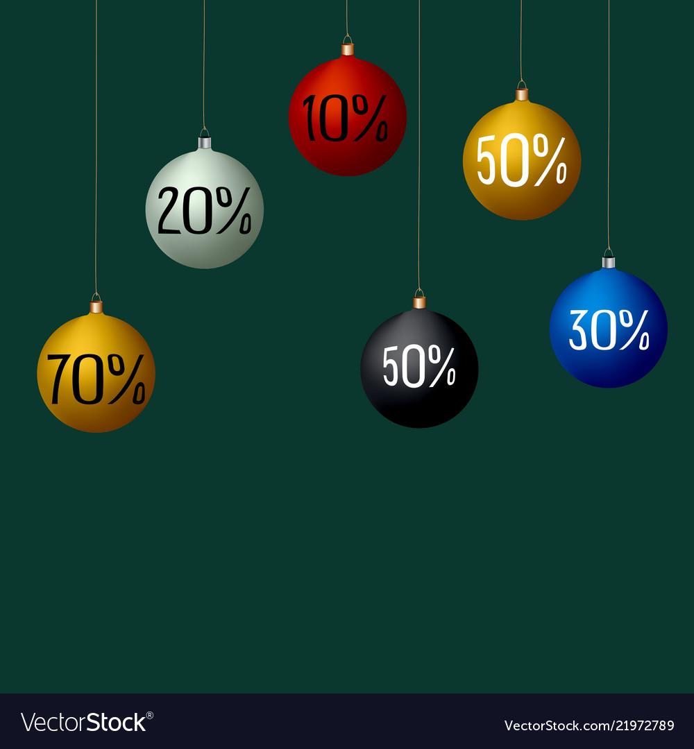 Christmas sale balls colorful
