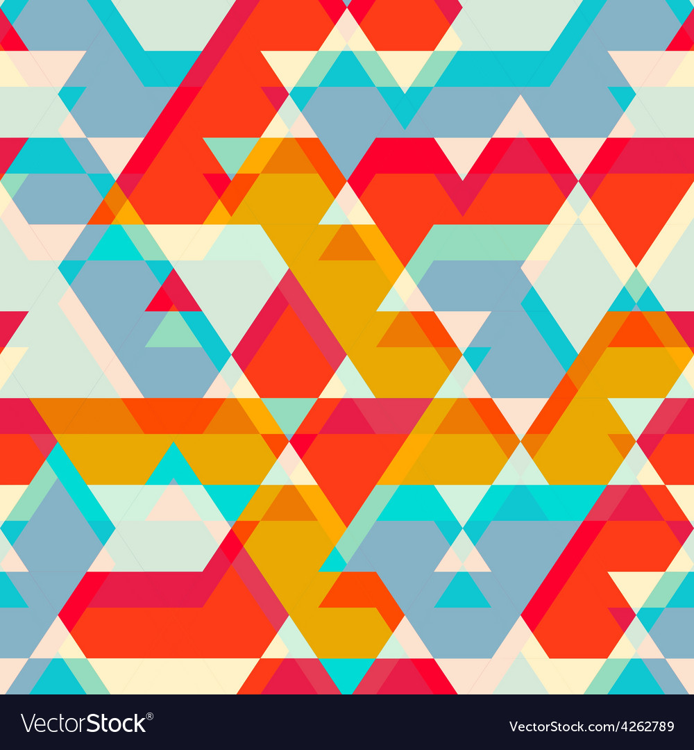 Colored star seamless pattern