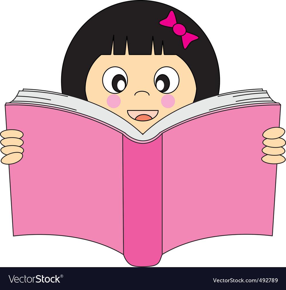Girl read vector image