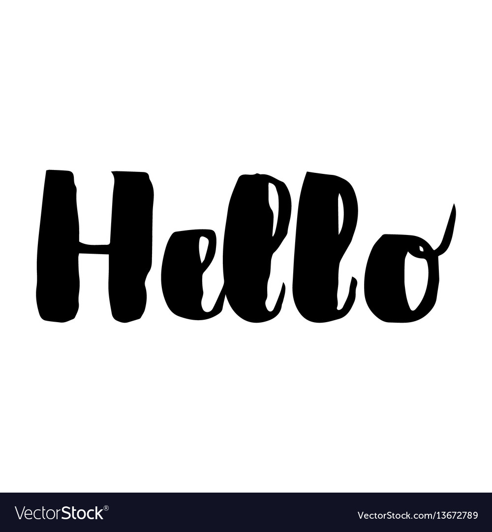 Hello - lettering for greeting card