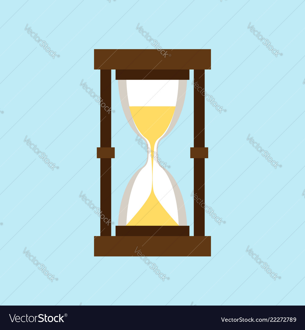 Hourglass isolated on a light blue background