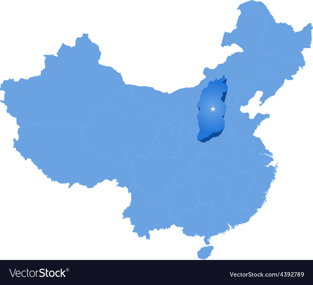 Shanxi China Map.Map Of Peoples Republic Of China Shanxi Province