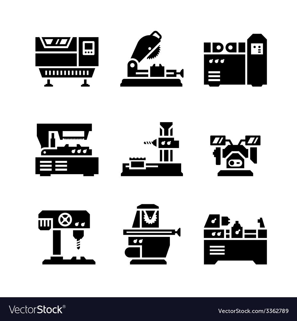Set icons of machine tool