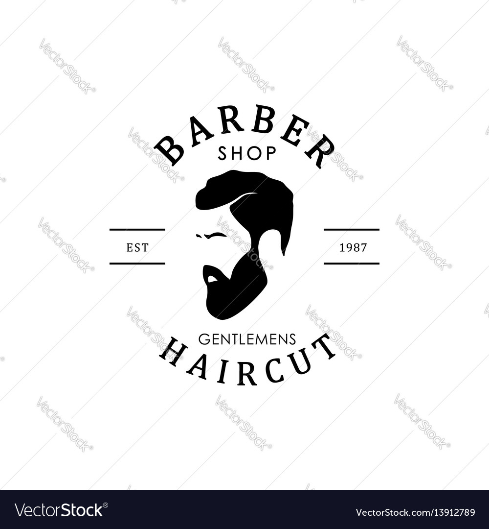 Vintage barber shop logo for your design vector image