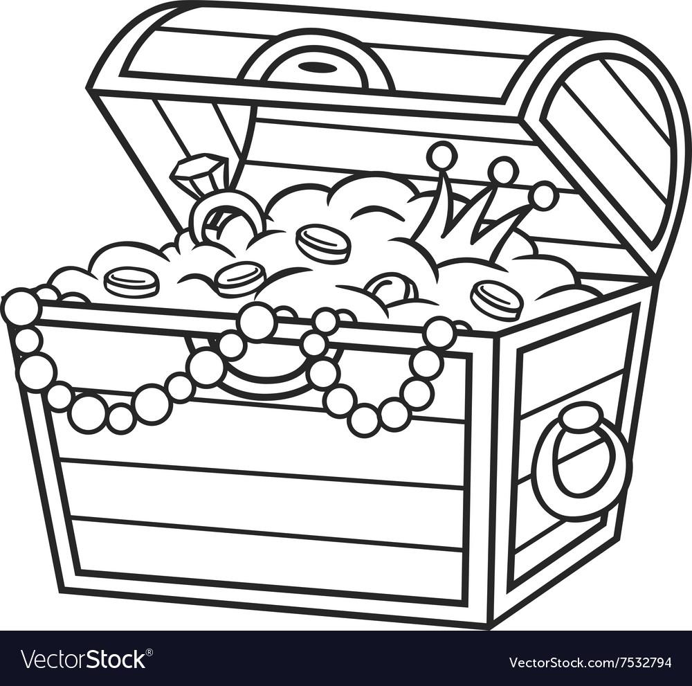 Cartoon Pirate Treasure vector image
