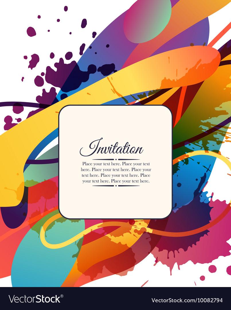 Colorful decorative invitation card with free