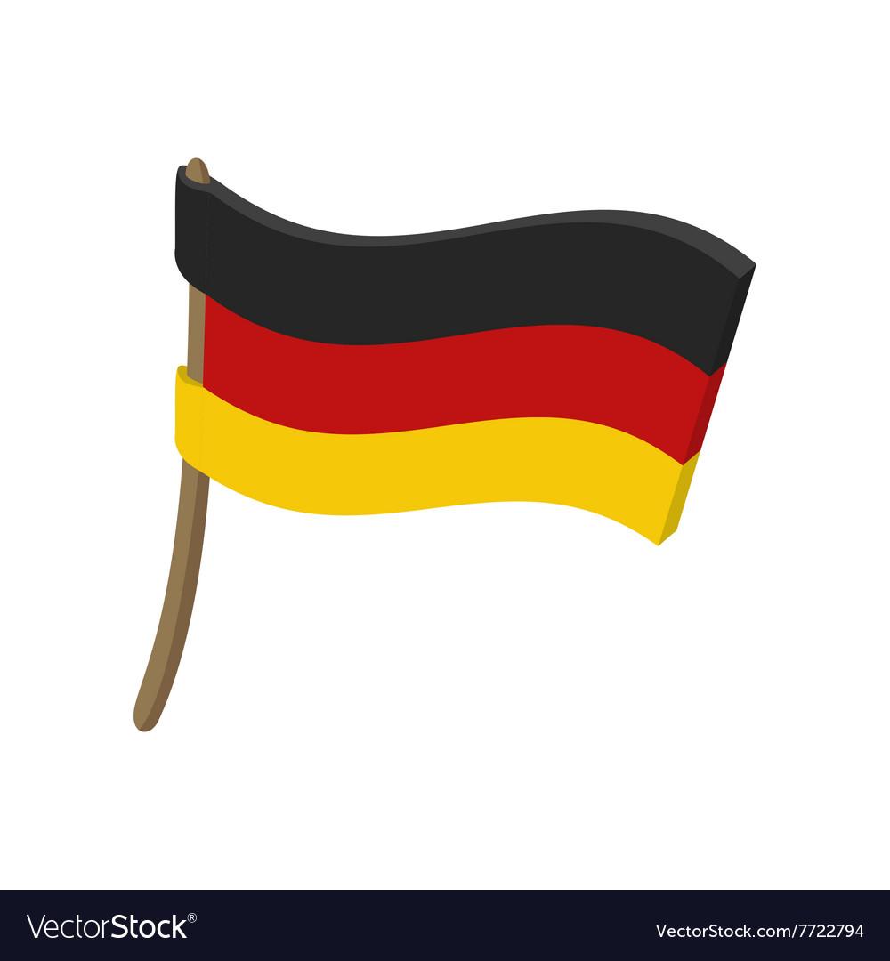 Flag of Germany icon cartoon style